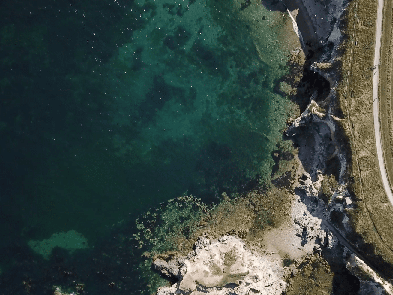 Aerial photograph showing marsden bay south tyneside