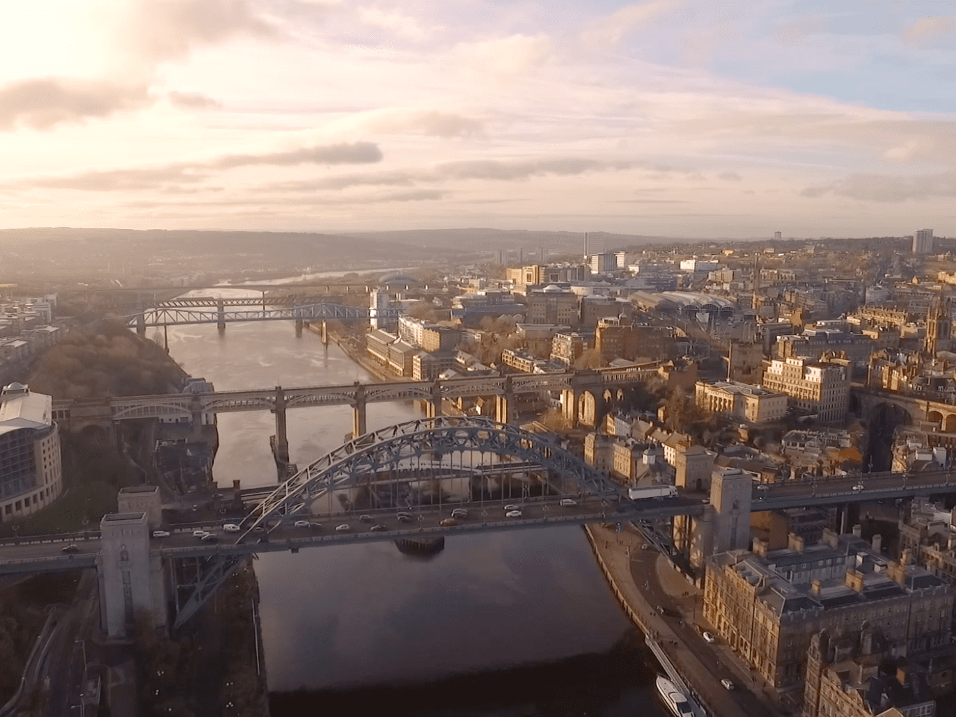 Aerial photo of newcastle upon tyne