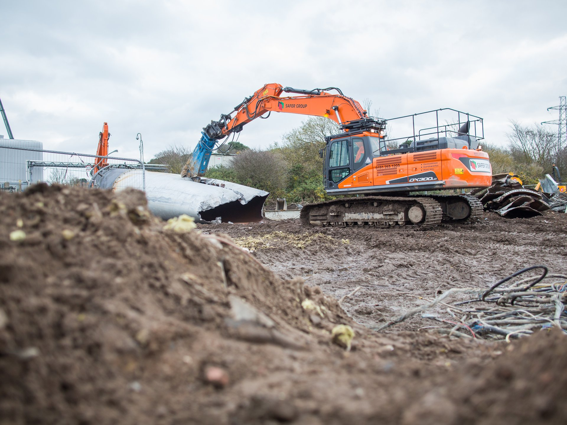 Photography of construction site in cumbria