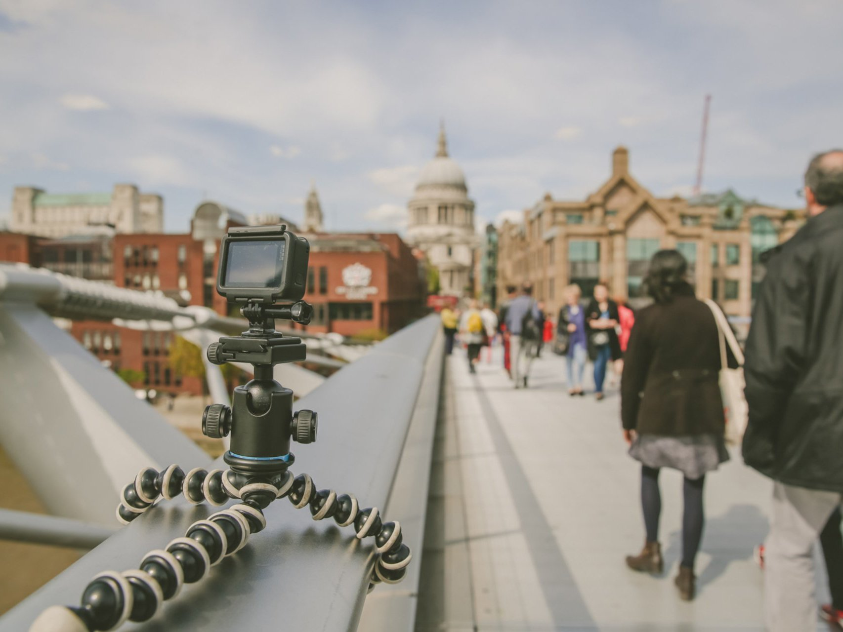 Camera located on london bridge
