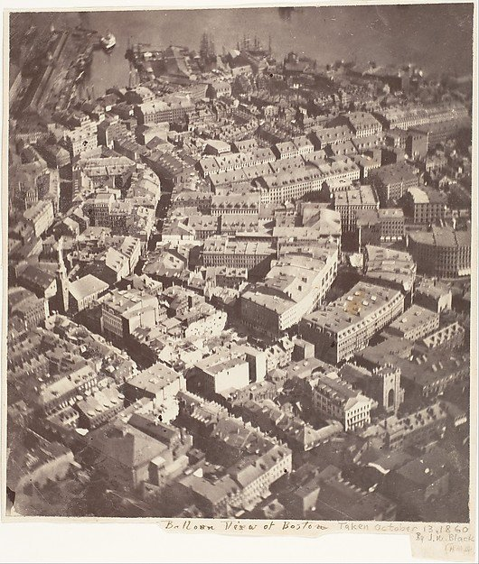 The first Aerial photograph ever captured