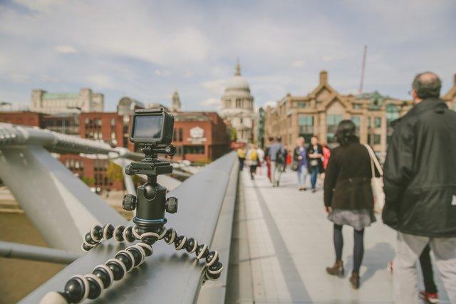 Go pro on the bridge time lapse medium